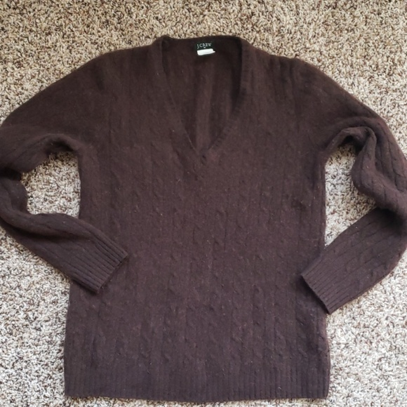 J. Crew Sweaters - J Crew brown cable crew neck sweater